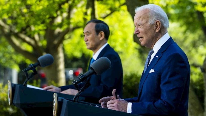 کنفرانس مطبوعاتی جو بایدن و نخست وزیر ژاپن