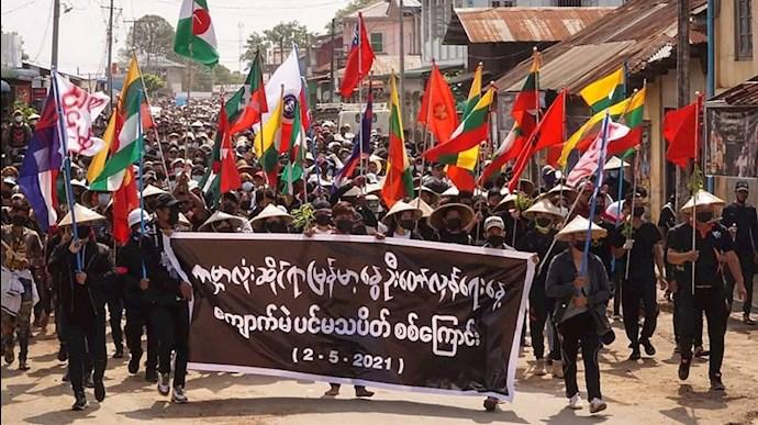 بزرگترین تظاهرات پس از کودتا در میانمار