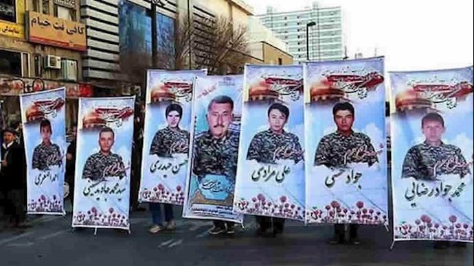کشته شدگان وابسته به رژیم ایران در سوریه