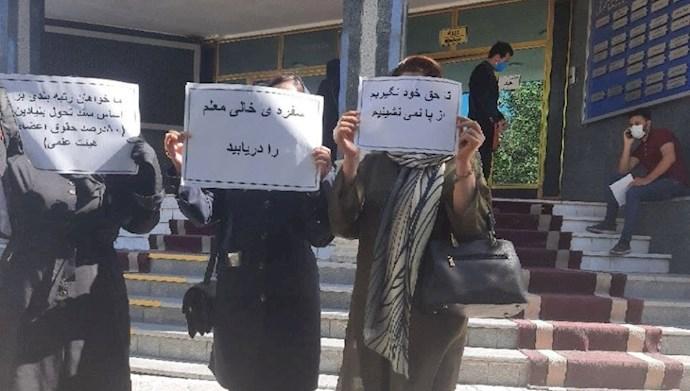 تجمع اعتراضی فرهنگیان تبریز