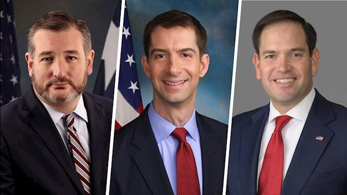 سناتورهای ارشد تام کاتن، تد کروز و سناتور مارکو روبیو