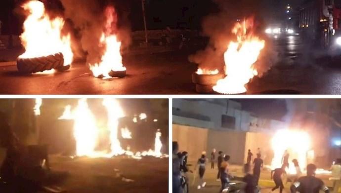 به آتش کشیدن کنسولگری رژیم  در کربلا