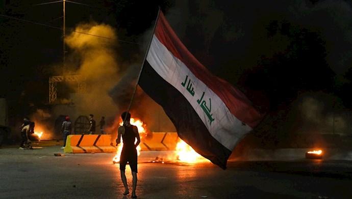 تظاهرات قیام کنندگان عراقی در نجف - ۱۹ اردیبهشت ۱۴۰۰
