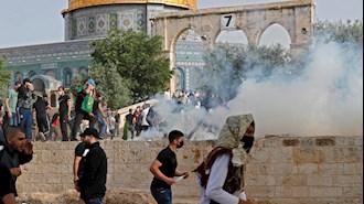 درگیریها در مسجدالاقصی و زخمی شدن صدها فلسطینی