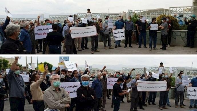 تجمع اعتراضی مالکین اراضی فاز ۶ پردیس