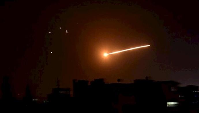 حملات موشکی به اهداف نظامی رژیم ایران در خاک سوریه