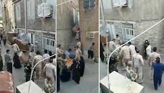 غارت اموال ساکنان نوسود توسط مأموران سرکوبگر  سپاه و انتظامی