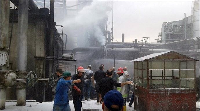 آتشسوزی در پالایشگاه اصلی حمص - 1