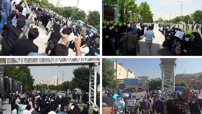 تجمعات اعتراضی معلمین کارنامه سبزها