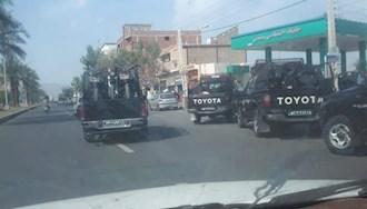 کرمان - گسیل نیروهای سرکوبگر به محل اعتراض کارگران معدن آسمینون منوجان