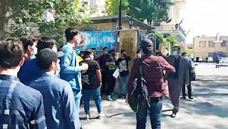 اعتراضات دانش آموزان در مخالفت با امتحانات حضوری