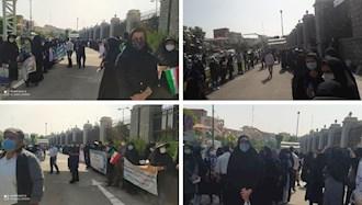 تجمع اعتراضی معلمین کارنامه سبزها