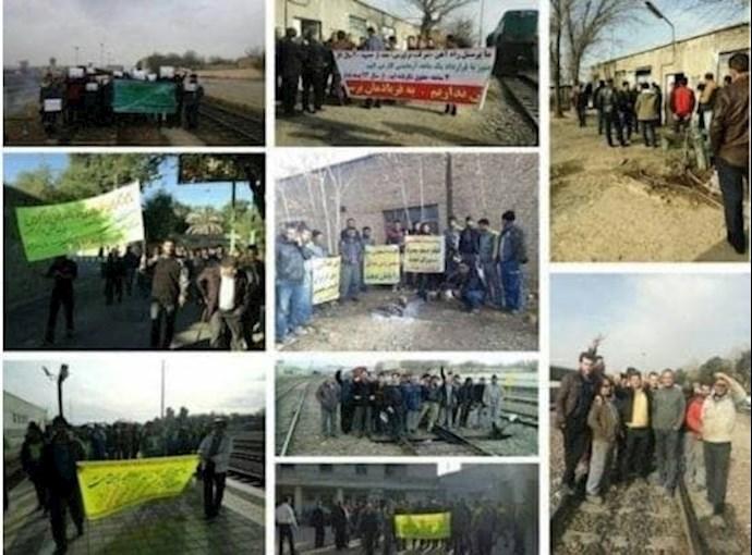 -اعتصاب کارگران و کارکنان مترو خط ۵