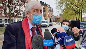 دادگاه آنتورپ بلژیک - کنفرانس مطبوعاتی وکلای مجاهدین - ۱۵ اردیبهشت۱۴۰۰