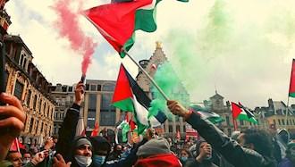 تظاهرات حمایت از مردم فلسطین در فرانسه