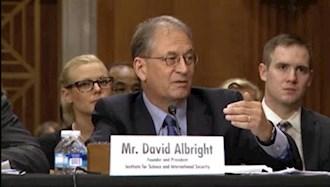 دیوید آلبرایت رئیس مؤسسه علوم و امنیت بینالمللی