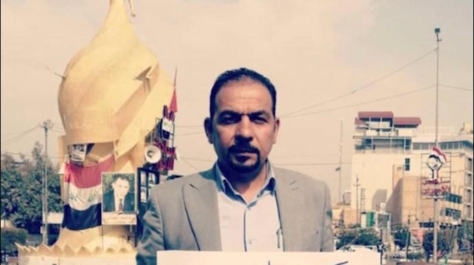 ایهاب الوزنی از فعالان عراقی عضو هماهنگکننده تظاهرات عراق