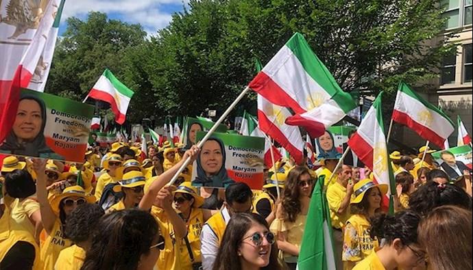 تظاهرات در آمریکا در حمایت از رئیسجمهور برگزیده مقاومت مریم رجوی