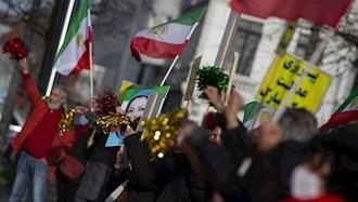 دادگاه آنتورپ - هواداران مجاهدین پیروزی عدالت را جشن میگیرند