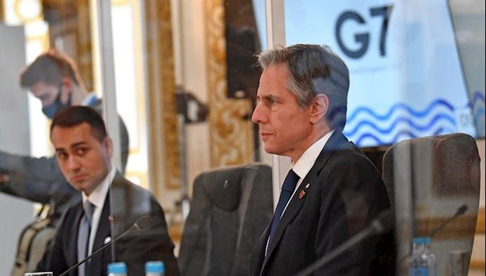 آنتونی بلینکن وزیر خارجه آمریکا در نشست جی ۷