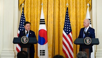 کنفرانس مطبوعاتی رئیس جمهور آمریکا و کره جنوبی