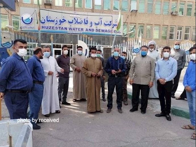 -تجمع اعتراضی اهالی روستاهای بخش غیزانیه اهواز