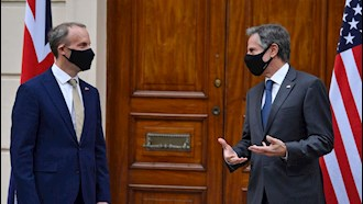 کنفرانس مطبوعاتی وزیران خارجه آمریکا و انگلستان