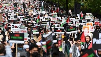 تظاهرات در پاریس در حمایت از فلسطین