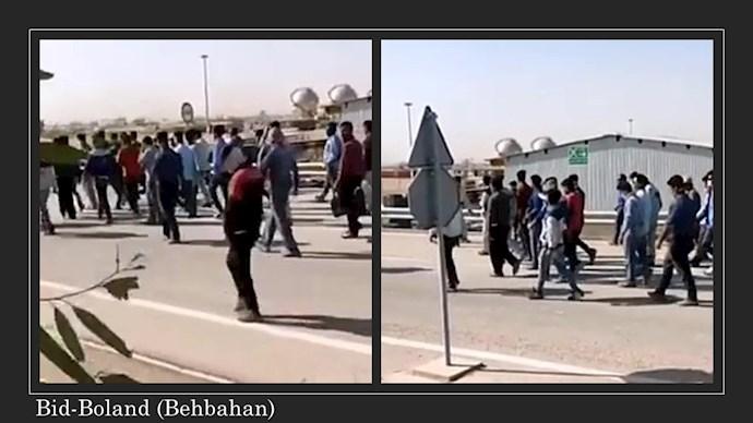 پالایشگاه بید بلند بهبهان - اعتصاب کارگران پیمانی در اعتراض به پایین بودن حقوق و پاسخ نگرفتن مطالباتشان - اول تیر ۱۴۰۰