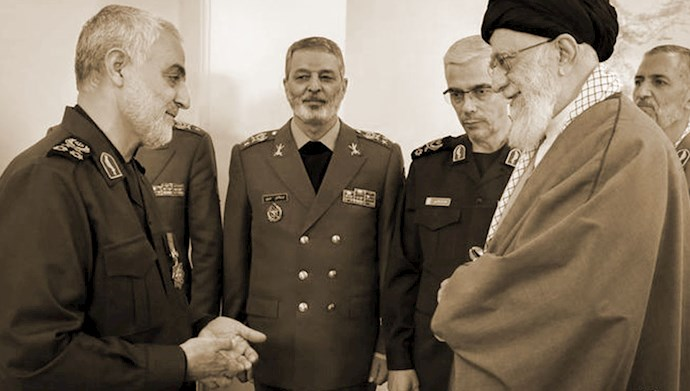 خامنهای و قاسم سلیمانی سرکرده تروریستهای نیروی قدس سپاه