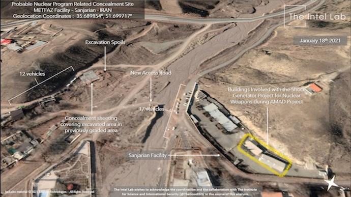 تصاویر ماهوارهیی از سایت سنجریان