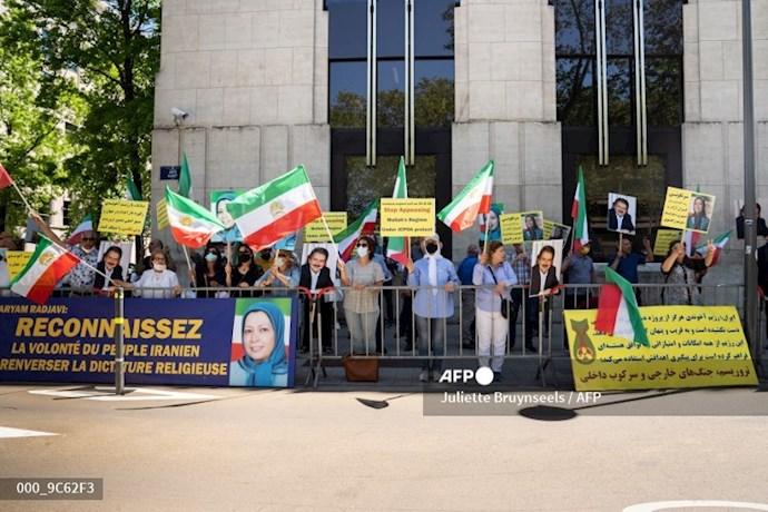 خبرگزاری فرانسه: تظاهرات حامیان شورای ملی مقاومت در بروکسل همزمان با اجلاس سران ناتو - 3