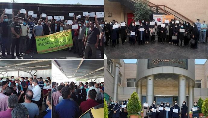 تجمعهای اعتراضی در مشهد و گچساران