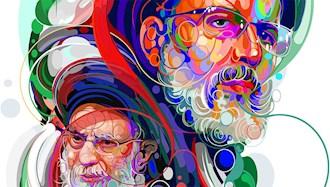 آخوند جلاد رئیسی و خامنهای - تصویر از واشنگتن پست