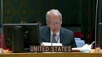 جفری دولورانتیس نمایندهٔ آمریکا در اجلاس شورای امنیت