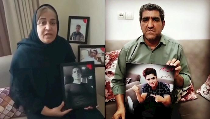پیام پدر شهید قیام ۹۸ رضا معظمی گودرزی و مادر شهید قیام ۹۶ سارو قهرمانی- رای نمیدهم