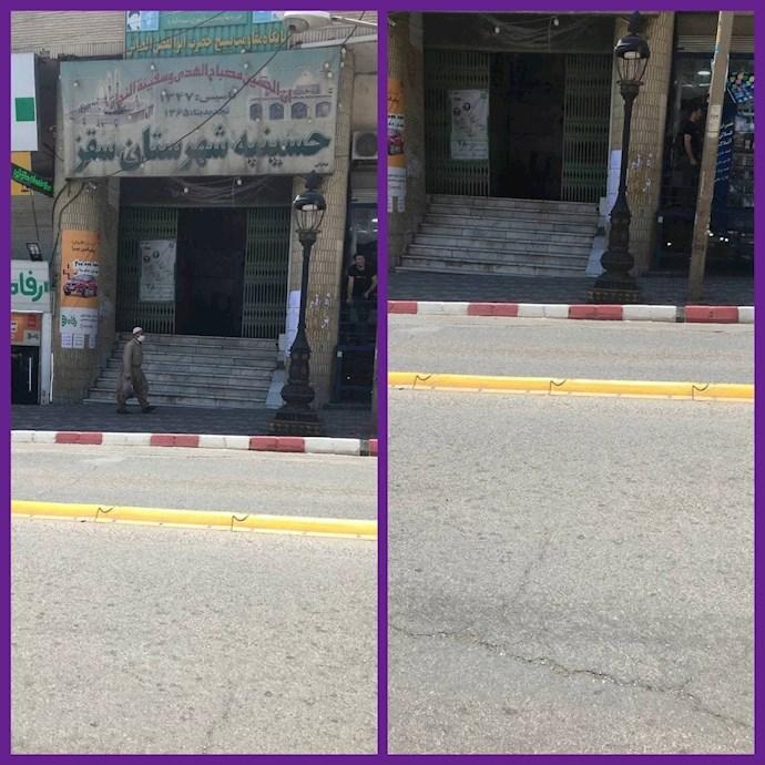 سقز در استان کردستان - کسادی بازار نمایش انتخابات - ۲۸خرداد۱۴۰۰