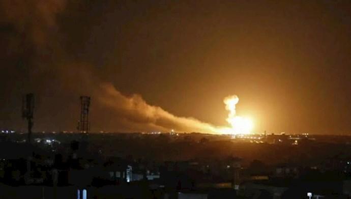 حملات هوایی اسراییل به رژیم اسد