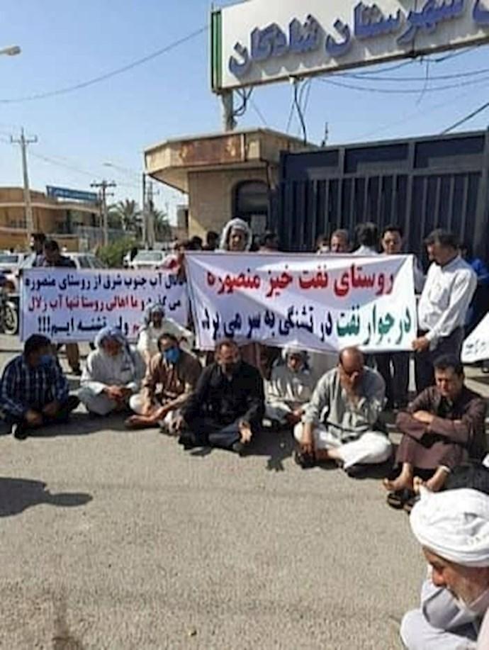-تجمع اعتراضی ساکنان روستای منصوره