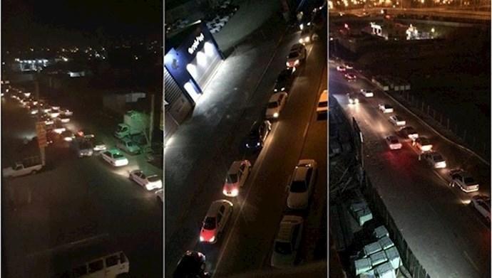 هجوم مردم به پمپ بنزین ها ی تهران