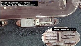 کشتی جنگی رژیم ایران در مسیر ونزوئلا