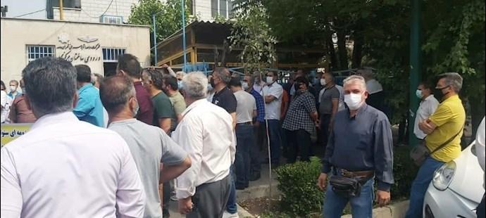 -تجمع اعتراضی بازنشستگان شرکت واحد - 1