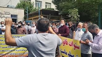 تجمع اعتراضی بازنشستگان شرکت واحد