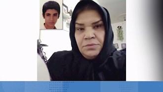 پیام مادر شهید قیام آبان ۹۸ مهرزاد رضایی به کارگران اعتصابی نفت و پتروشیمی