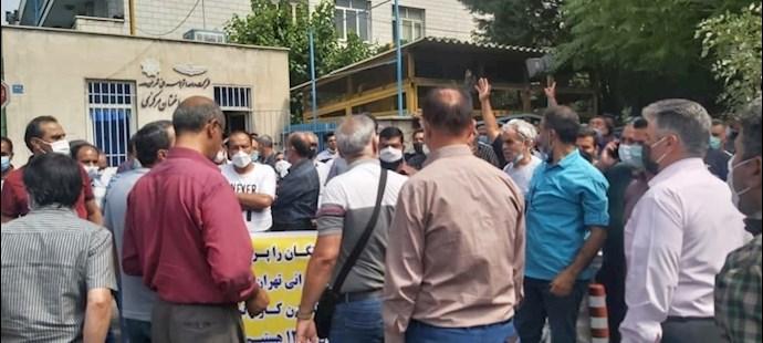 -تجمع اعتراضی بازنشستگان شرکت واحد - 4