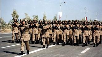 تصویری از رژه یگانهای نمونه ارتش آزادیبخش ملی ایران در قرارگاه اشرف - آرشیو