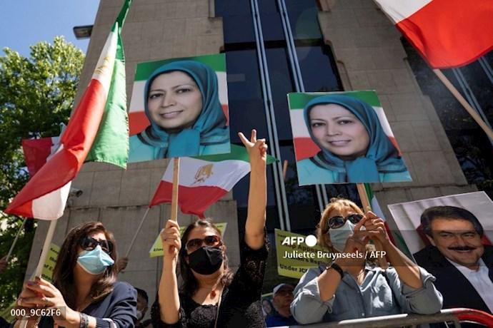 خبرگزاری فرانسه: تظاهرات حامیان شورای ملی مقاومت در بروکسل همزمان با اجلاس سران ناتو - 4