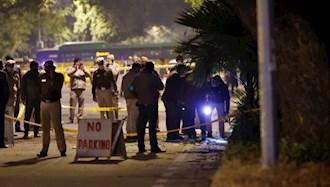 پلیس در محل انفجار بمب مقابل سفارت اسرائیل در هند