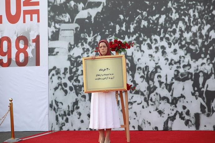 رئیسجمهور برگزیده مقاومت در مراسم چهلمین سالگرد مقاومت سراسری در اشرف۳