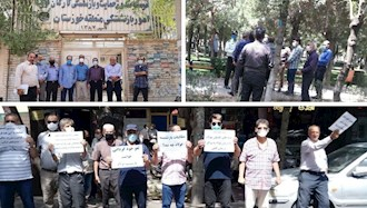 تجمع بازنشستگان در خوزستان ، اراک و اصفهان